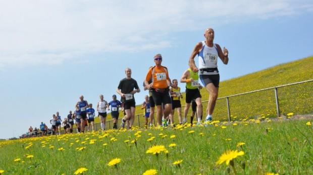 Marathon-lopen-wedstrijd